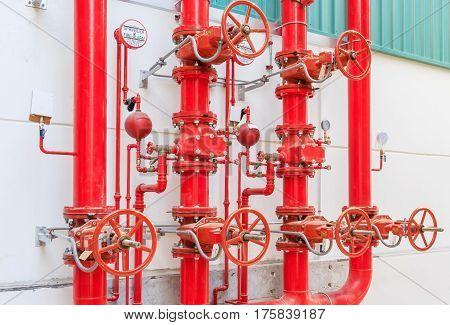 Water sprinkler and fire alarm system water sprinkler control system