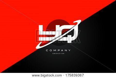 Yq Y Q  Red Black Technology Alphabet Company Letter Logo Icon