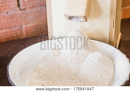 Closeup of rolls from flour mills in the Russian style..