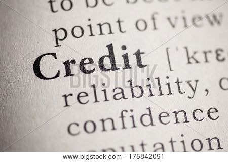 Fake Dictionary Dictionary definition of the word credit.