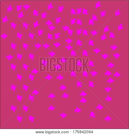 Abstract pink background of large pink pointers and arrows lined the entire figure