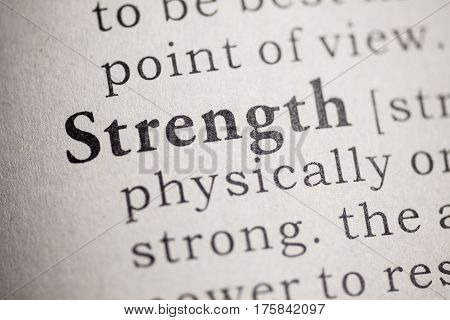 Fake Dictionary Dictionary definition of the word strength.