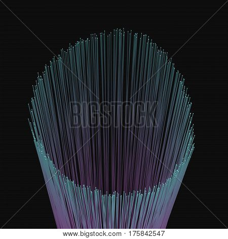 Modern abstract vector illustration with luminous vertical lines. Bunch of colorful futuristic radiant sticks. Element of design. Fancy background.