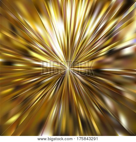 Vector gold metal effect. Abstract background with iridescent mesh gradient. Colorful shades. Visual illusion of sparcles golden metal surface. Golden background for Christmas or party themes