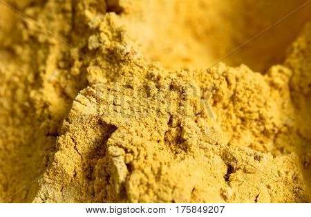 Photo background of macro seasoning bright curry