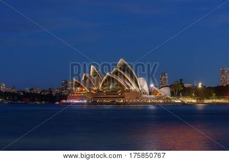 Sydney Australia - March 12,2017 : Sunset At Sydney Opera House, Sydney, Australia, Over 10 Millions