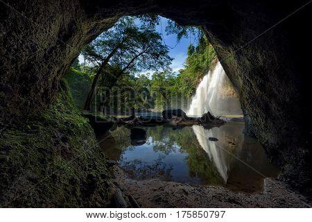 Haew suwat waterfall at Khao Yai National Park Thailand