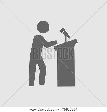 Speaker on podium vector icon eps 10.