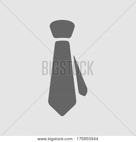 Tie vector icon eps 10. Necktie business symbol.