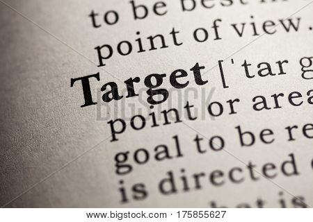 Fake Dictionary Dictionary definition of the word target.