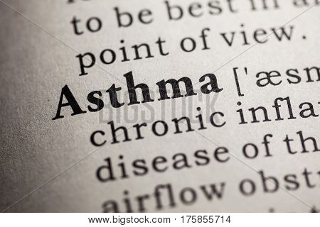 Fake Dictionary Dictionary definition of the word asthma.