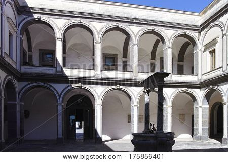 photo of the certosa church in the town of naples