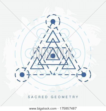 Sacred geometry sign. Linear Modern Art. Religion creativity esoteric symbol, logotype