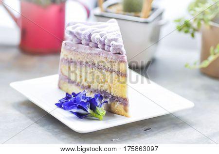 sweet potato cake or yam shortcake dish