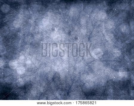 Blue abstract background with scratches, textured pattern