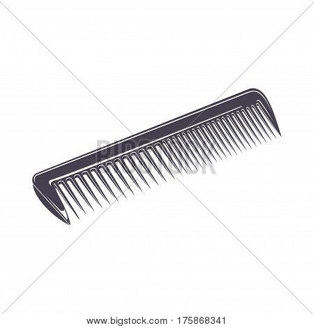 comb, monochrome style, comb on the white background, vector