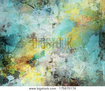 abstract background created by using different photographs and hand painted layers