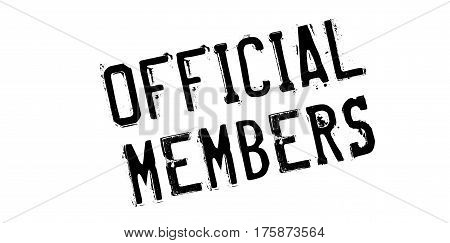 Official Members rubber stamp. Grunge design with dust scratches. Effects can be easily removed for a clean, crisp look. Color is easily changed.