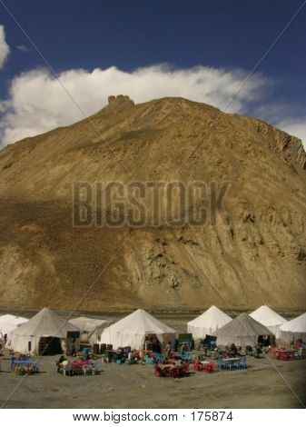 Food Tents, Mountain, Manali-leh Highway, Ladakh