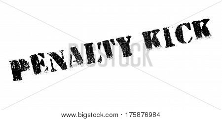 Penalty Kick rubber stamp. Grunge design with dust scratches. Effects can be easily removed for a clean, crisp look. Color is easily changed.