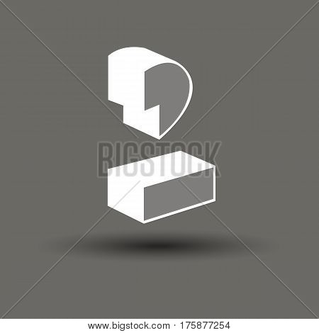 vector symbol design percent white number sign illustration mark element