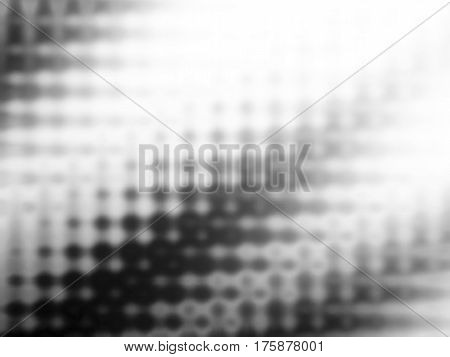 Blurry shades of grey spots. Abstract background with mesh gradient. Halftone effect. Blur dots. Vector EPS10