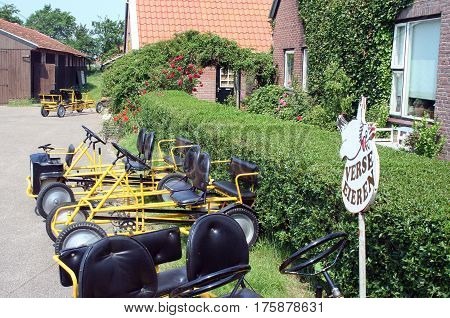 Netherlands Ameland Bure njuly 2016: bikes for rent