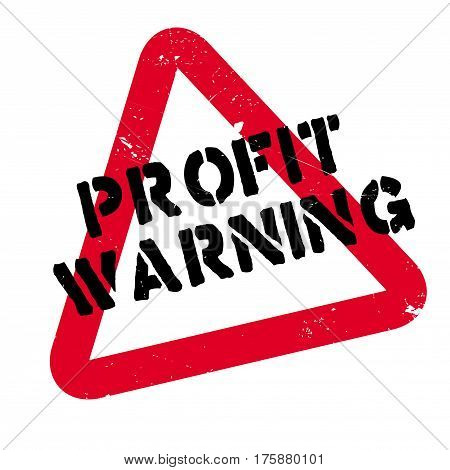 Profit Warning rubber stamp. Grunge design with dust scratches. Effects can be easily removed for a clean, crisp look. Color is easily changed.