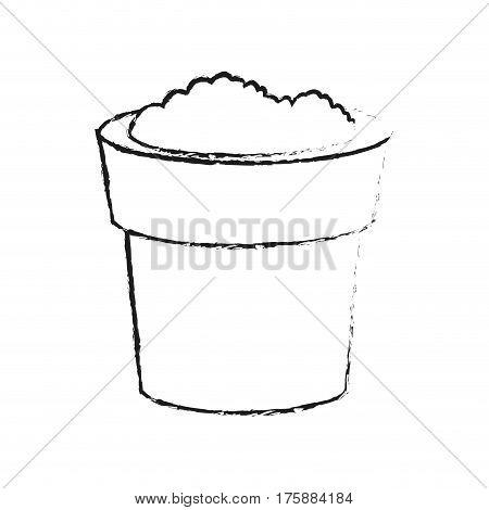 soil in pot icon image vector illustration design