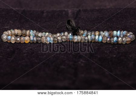 A strand of beads that will be used to craft various types of jewelry - 28