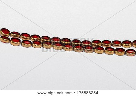 A strand of beads that will be used to craft various types of jewelry - 9