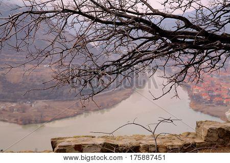The Kura river in winter, Georgia, Caucasus