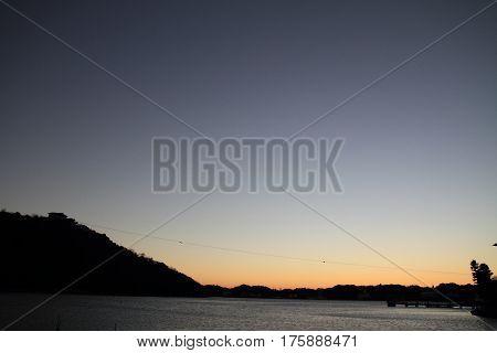Hamanako Lake In Hamamatsu, Shizuoka, Japan Before Dawn