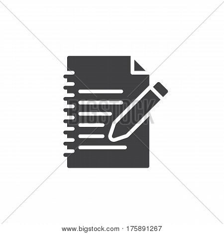 Fill in form icon vector filled flat sign solid pictogram isolated on white. Edit symbol logo illustration. Pixel perfect