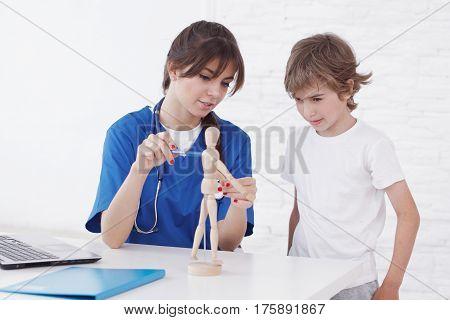 Doctor Explain Medicine To Child