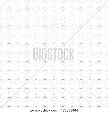 Seamless pattern. Abstract wrapping digital paper. Modern stylish texture with regularly repeating geometrical shapes tiles with thin line crosses dashed rhombuses. Vector element of graphical design