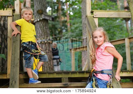 girl and boy goes on the trail of Tarzan