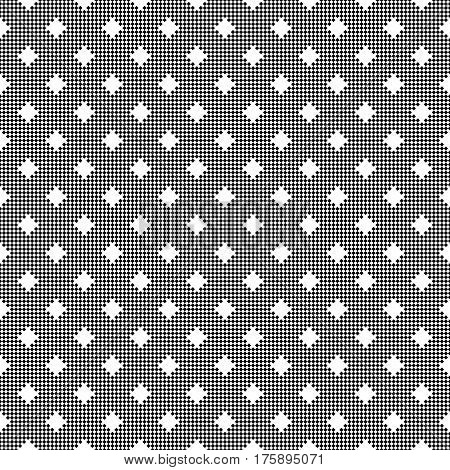 Vector seamless pattern. Abstract small textured background. Modern stylish geometrical texture with repeating small rhombuses diamonds. Surface for wrapping paper shirts cloths. Digital paper.