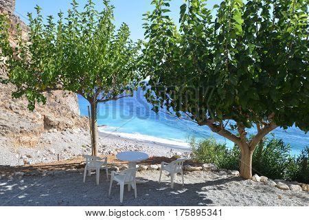 Café On Sea Beach