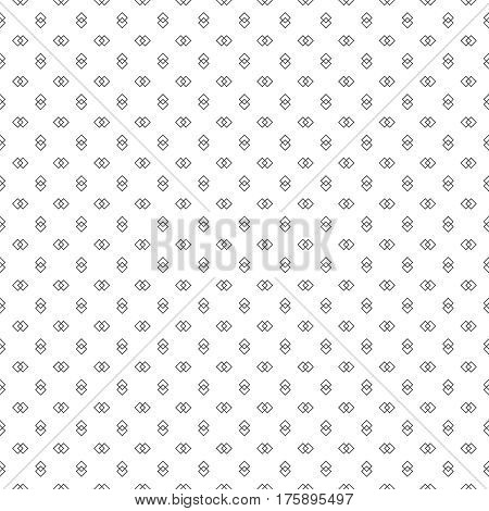Vector seamless pattern. Abstract small textured background. Classical simple repeating geometrical texture with outline intersecting rhombuses. Surface for wrapping paper shirts cloths. Digital paper.