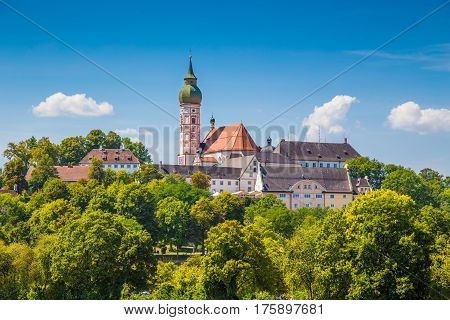Famous Andechs Abbey In Summer, District Of Starnberg, Upper Bavaria, Germany