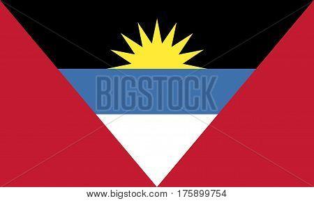 Flag of Antigua and Barbuda. Vector illustration