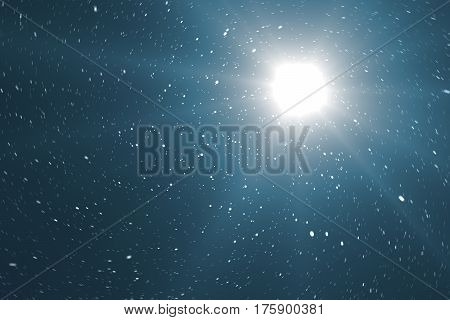 Blue Universe filled with stars, nebula and galaxy, space dust in the universe, beautiful background with stars. 3d rendering