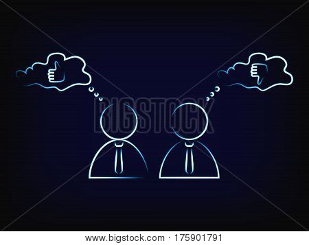 Vector Of Business Men Exchanging Ideas Or Opinions