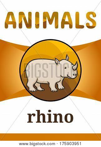 Printable Animal Flash Card