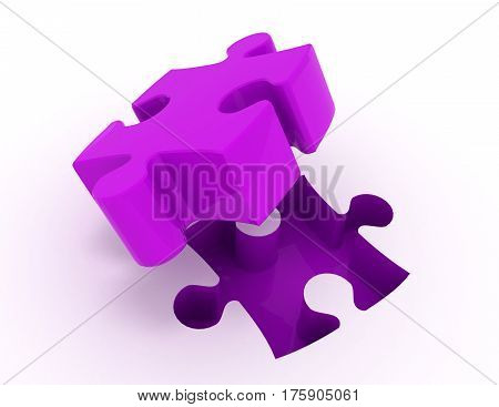 jigsaw puzzle. 3d busines illustration concept. rendred