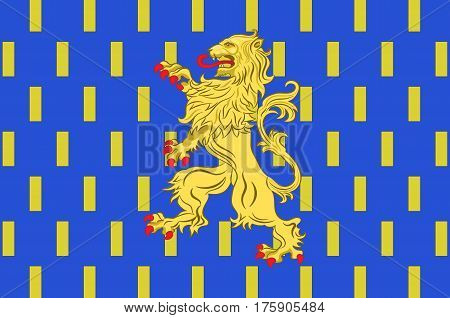 Flag of Auxerre is the capital of the Yonne department and the fourth-largest city in Burgundy. Vector illustration