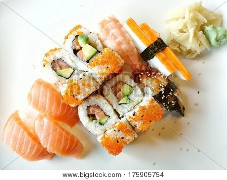 delicious Japanese food ready to be eaten