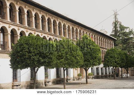 Ronda (Andalucia Spain): facade of the Ayuntamiento historic town hall
