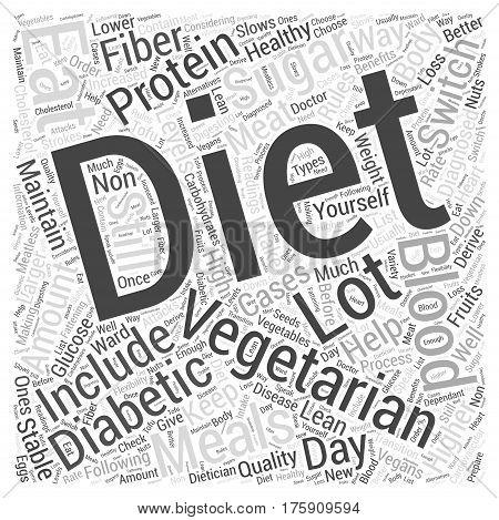 A Diabetic Diet for Vegetarians Word Cloud Concept